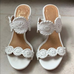Jack Rogers Luccia leather white wedge sandal